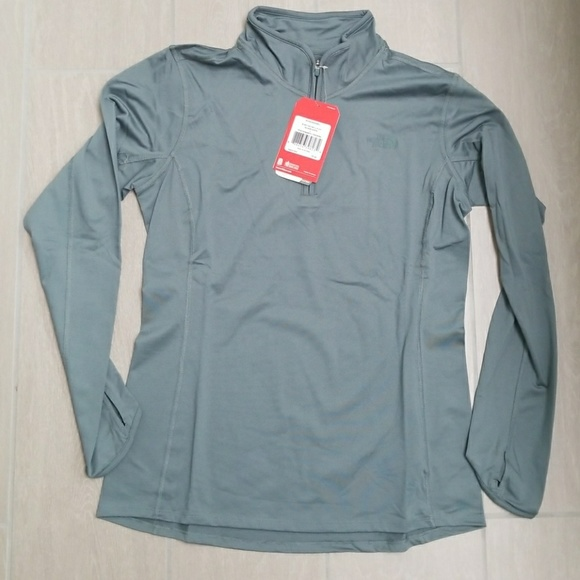 9320bc763 W Motivation 1/4 Zip Balsam Green Northface NWT